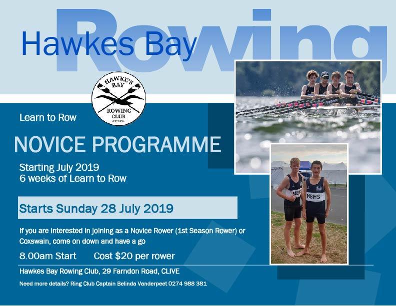 Novice programme - Rowing