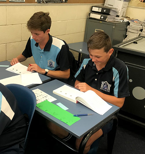 Toe by Toe reading programme at Napier boys high school